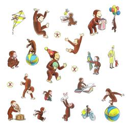 curious george wall decals monkey room decor
