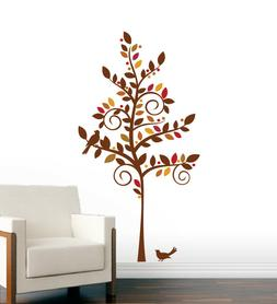 Curly Tree Wall Decal - Home Decals, Art Sticker Murals, Nur