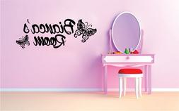 Custom Name Butterfly Kids Name Vinyl Sticker Decal for Wall