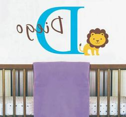 Custom Name Wall Decal with King of the Jungle Lion Sticker
