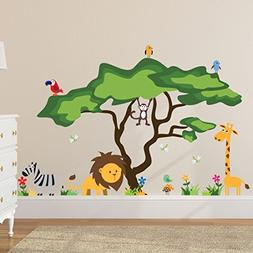 Timber Artbox Cute Animals in The Jungle Wall Decals - Giant