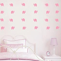 YOYOYU ART HOME DECOR Cute Elephant Decal -36 set elephant w