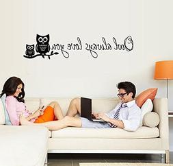 "ufengke® ""Owl Always Love You"" Cute Owl Wall Decals, Childr"