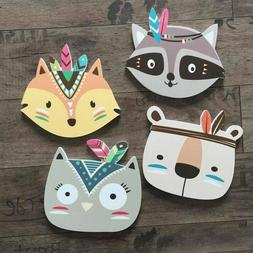 Cute  Wall stickers For Kids Room Nursery Decoration Wood Po