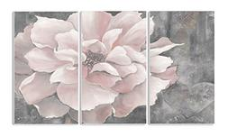 Stupell Home Décor 3 Piece Pastel Pink Peony On Gray Tripty