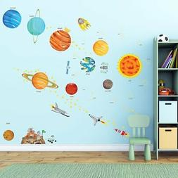 Decowall DA-1501 The Solar System Kids Wall Decals Wall Stic