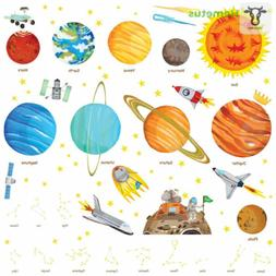 Decowall DA-1501 The Solar System Kids Wall Stickers Decals