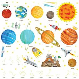 Da 1501 The Solar System Wall Stickers Decals Peel And Stick