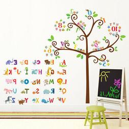 Decowall DA-1503 Animal Alphabet and Numbers Tree Wall Stick