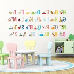 Decowall DA-1701 Alphabet Wall Stickers peel & decals KIDS d