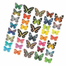 Decowall DA-1705 Vivid Butterflies Kids Wall Decals Wall Sti