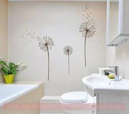 Dandelions Flower Vinyl Stickers Wall Art Decals For Home De