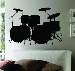 decals wall mural music drums
