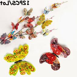 Decor Multi-color Wall Stickers Fridge Magnet 3D Butterfly