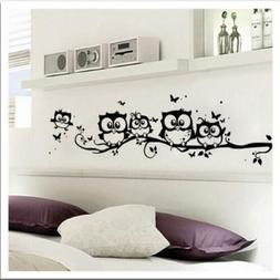 Decorative Owls On Tree Wall stickers For Kids Rooms PVC Mur