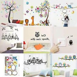 Decorative Owls On Tree Wall stickers For Kids Rooms Bathroo