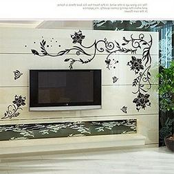Decorative Wall Sticker Decal - Floral Vine Mural Art Home D