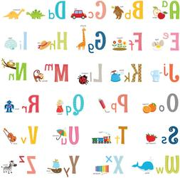DECOWALL DW-1701S Uppercase Alphabet ABC with Pictures Kids