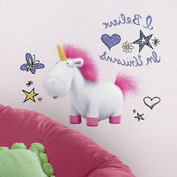 DESPICABLE ME 3 wall stickers 10 decals I BELIEVE IN UNICORN