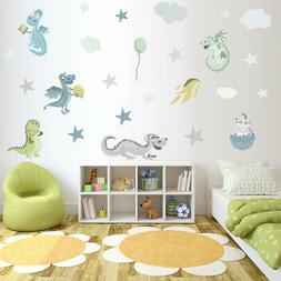 Dinosaur Animal Jungle Forest Wall Stickers Decal Kids Room