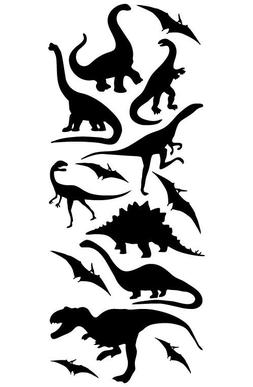 DINOSAUR VINYL WALL DECALS STICKERS BOYS BEDROOM 14 PC PTERO