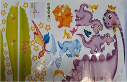 Dinosaur Wall Decals Dino Wall Stickers for Boys & Girls Bed