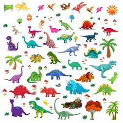 Dinosaur Wall Decals, Decorative Dino Stickers for Boys & Gi