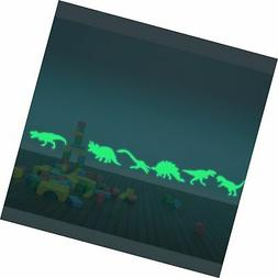 ufengke® 9-pcs Dinosaurs Wall Decals Fluorescence Stickers