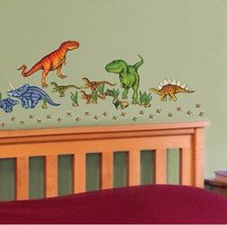 DINOSAURS wall stickers 58 decals eggs dino foot prints T-RE