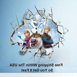 Disney Frozen Huge 3D Breaking Through Wall Decals Stickers