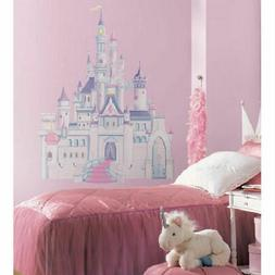 Disney PRINCESS CASTLE wall stickers MURAL 7 glittery decals