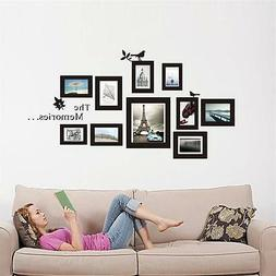 DIY 10 Photo Frames Set Wall Sticker Vinyl Art Decals For Ho