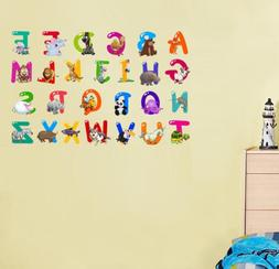 BIBITIME DIY 26 English Letters Character Alphabet Vinyl Wal