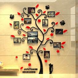 DIY 3D Photo Frame Tree PVC Wall Decals Family Sticker Mural