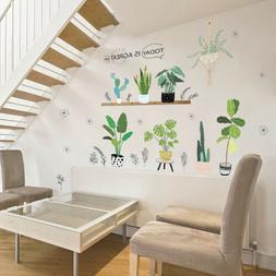 DIY Cactus Flower Pot Wall Decals Wall Stickers for Home Win