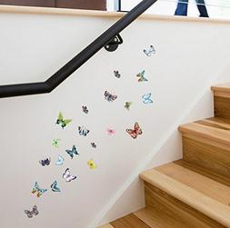 BIBITIME DIY Small Colorful Butterflies Wall Decal Butterfly