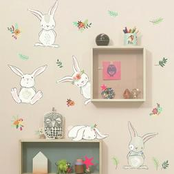 DIY Lovely Style Rabbit Wall Sticker Decal For Nursery Kids