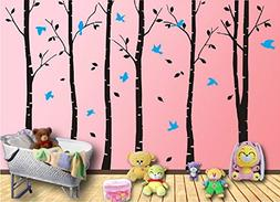 DIY 6pcs Oversized Birch Tree Wall Decal Nursery Removable P
