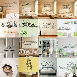 DIY Quote Wall Stickers Decal Vinyl Art Mural Removable Home