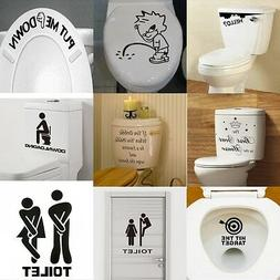 diy toilet seat wall sticker decals vinyl