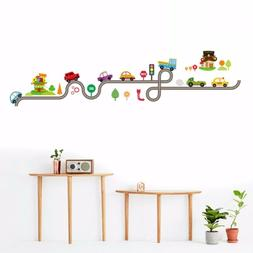 DIY Transport Wall Sticker Train Ship Car Tree Decals Art Ki