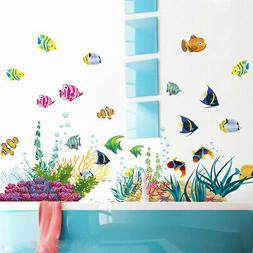 DIY Vinyl Ocean Fishes Wall Sticker Home Decal For Nursery B