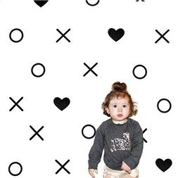 Home Decor DIY XOs + Hearts Vinyl Wall Stickers Baby Room Wa