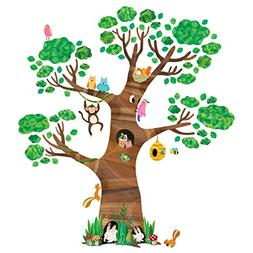 Decowall DL-1709 Giant Tree and Animals Kids Wall Decals Wal