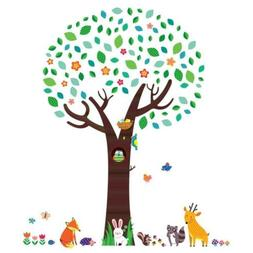 dm 1312 large tree with animal friends