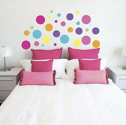 DOTS CIRCLES wall stickers 28 colorful decals room decor lot