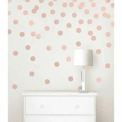 dots wall decals in rose gold