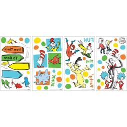DR. SEUSS DOTS Wall Decals CAT HAT THING 1 2 Room Decor Stic