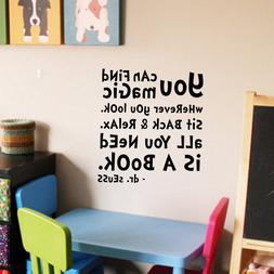 Dr Seuss Quote - Wall Decal Vinyl Sticker Kidsroom Decor Pla