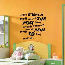 Dr Seuss Quote - Wall Decal Vinyl Sticker Monogram Nursery P